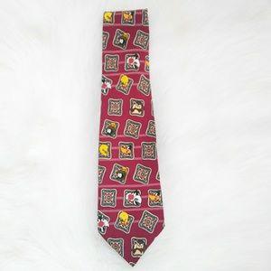 WARNER BROS. Hand Made 100% Silk Tie.